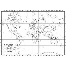 World Outline Map 50 Pack