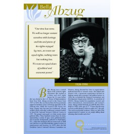 Women's Rights Pioneers - Bella Abzug poster