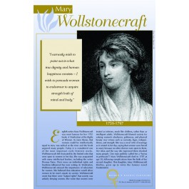 Women's Rights Pioneers - Mary Wollstonecraft poster