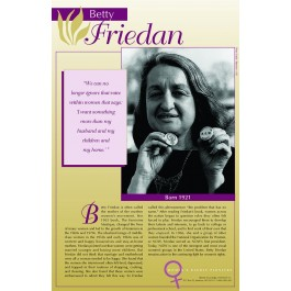 Women's Rights Pioneers - Betty Friedan poster