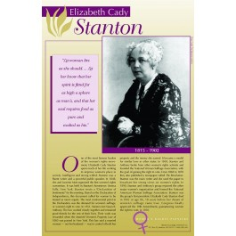 Women's Rights Pioneers - Elizabeth Cady Stanton poster