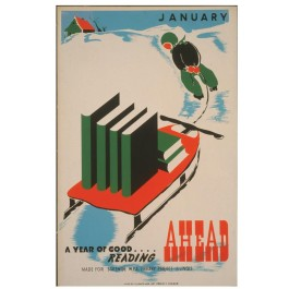 Historic Reading Posters - January - A Year of Good... Reading