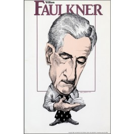 William Faulkner- Literary Caricature Poster