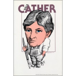 Willa Cather- Literary Caricature Poster