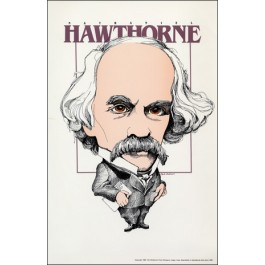 Nathaniel Hawthorne- Literary Caricature Poster