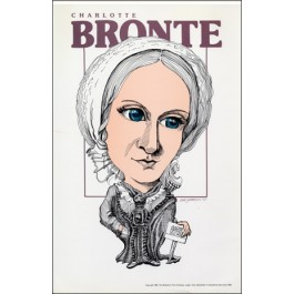 Charlotte Bronte- Literary Caricature Poster