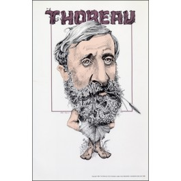 Henry David Thoreau- Literary Caricature Poster