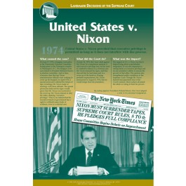 U.S. v. Nixon - Landmark Decisions of the Supreme Court poster
