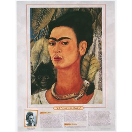 Notable Women Artists - Frida Kahlo - Self-Portrait with Monkey