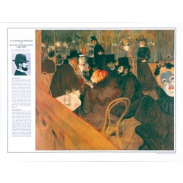 Henri de Toulouse- Lautrec-- At the Moulin Rouge