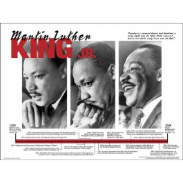 Martin Luther King Jr. - Portrait: Black History poster