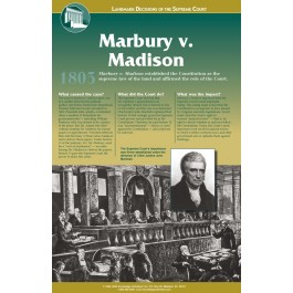 Landmark Decisions of the Supreme Court - Marbury v. Madison poster
