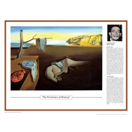 Twentieth Century Art Masterpieces - Dali - The Persistence of Memory poster