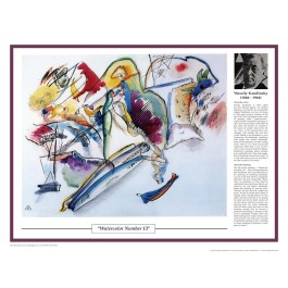 Twentieth Century Art Masterpieces - Kandinsky - Watercolor (No. 13) poster