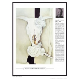 Twentieth Century Art Masterpieces - O'Keeffe - Cow's Skull with Calico Roses poster