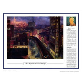 Twentieth Century Art Masterpieces - Sloan - The City from Greenwich Village poster