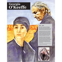 Georgia O'Keeffe -Great American Women - poster
