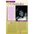 Women's Rights Pioneers - Shirley Chisholm poster