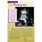 Women's Rights Pioneers - Gloria Steinem poster